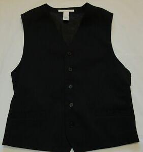 Perry Ellis Black Suit Vest 5 Button Men's Medium