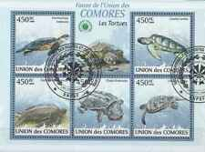 Timbres Reptiles Tortues Comores 1641/5 o année 2009 lot 23398 - cote : 16 €