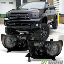 Blk Smoke 2007-2013 Toyota Tundra 08-17 Sequoia Headlights Headlamps Left+Right