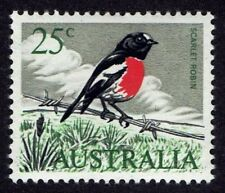 Australia 410 Scarlett Robin Song Birds 1966-71 Stamp Mnh ast410-1