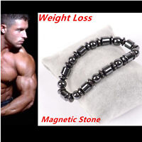 Weight Loss Round Black Stone Bracelet Health Care Magnetic Therapy Bracelet hi