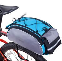 ROSWHEEL 13L Bicycle Bags Cycling Bike Pannier Rear Seat Rack Trunk Shoulder Bag