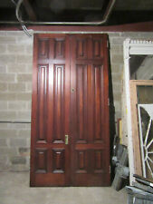 ~ Huge Antique Walnut Double Entrance French Doors ~ 62 X 122 ~ Salvage