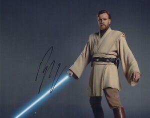 Star Wars photo signed by Ewan McGregor as Obi Wan Kenobi - Rare!