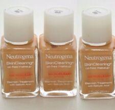 3 Neutrogena Skin Clearing Oil-Free Makeup Blemish Treatment - WARM BEIGE 90 FS