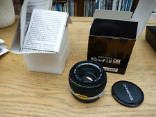 Olympus Zuiko Auto-S 50mm f1.8 Prime Standard Lens Matching Box