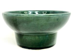 Vtg Hull USA Pottery 401 Forest Green Glazed Bowl Planter Flower Pot, Jardinière