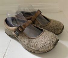 MERRELL Womens Encore MJ Wool Brindle Shoes Sz 8 Heathered Beige Mary Janes
