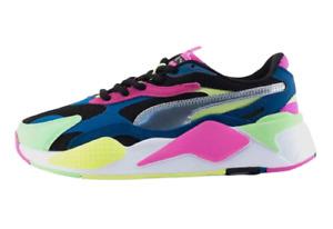 Original PUMA Womens RS-X Puzzle Metallic Comfort Athletic Casual Running Shoe .