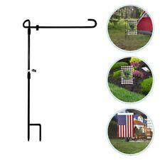 Garden Iron Art Flag Pole Holder Outdoor Yard Flags Stand Flag Banner Holder