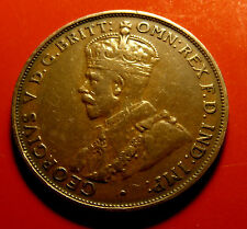 VF 1933 Australia Penny George V, Late series date, Well struck, w Holder.