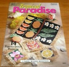 TROPICAL PARADISE 14  Projects PLASTIC CANVAS Patterns Mansfield Flowers & more