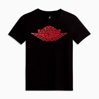 Nike Air Jordan 1 Wings T Shirt CZ1769-100 Black Red Bred Men's NEW WITH TAGS