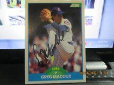 Greg Maddux HOF Autographed Baseball Card 1988 Score Rookie #119 Early Sign