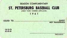 1961 St. Petersburg Vs Tampa Tarpons Pete Rose age 20/130 G/160 H/331 BA Reds