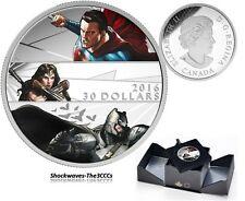 2016 SILVER $30 BATMAN V SUPERMAN DAWN OF JUSTICE  2 oz. COIN - SALE 10%