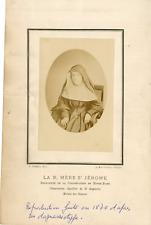 Révérende Mère St Jérome, d'après un daguerréotype Vintage albumen print