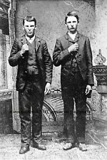 1872 Rare Jesse James Frank James  PHOTO Quantrill's Raiders Wild West Outlaws