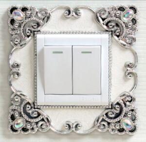 Single White Silver Light Switch Surround Socket Mrs Hinch Home #Hincharmy