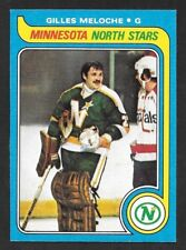 1979-80  TOPPS HOCKEY , # 136 , GILLES MELOCHE , MINNESOTA NORTH STARS