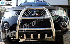 FOR MITSUBISHI L200 BULL BAR CHROME AXLE NUDGE A-BAR 60mm 2006-2009 GREAT OFFER