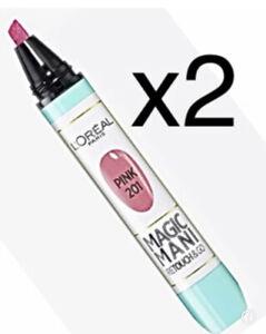 2x Loreal Magic Mani Nagellack Korrektur Stift 201 Pink French Maniküre