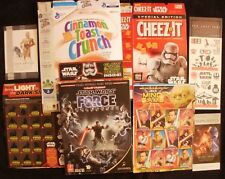 Lot of Assorted Star Wars Memoribilia - Cereal Box, Book, Cards, Tattoos & More