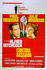 TORN CURTAIN 1966 Alfred Hitchcock, Paul Newman Julie Andrews ARGENTINE POSTER