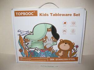 TOPBOOC Kids Tableware Set BPA Free Toddler Dining Children Dinnerware NEW, Open