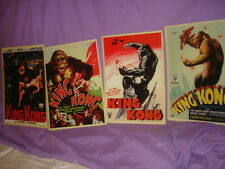 KING KONG POSTER ( COPYS ) SPECIAL LAMINATED 10 3/4'' by 15 1/4'' SET OF 4