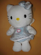 "8"" HELLO KITTY Plush ANGEL blue dress Sanrio Smiles 1998 wings stuffed animal"