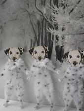 DALMATIAN DOG Vintage Style Chenille Christmas Ornaments - Set of 3