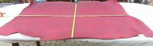 """RED """"PULL UP"""" LEATHER HIDE - 1.5mm THICK - 48"""" X 40"""" - OLD STOCK - CLEARANCE"""