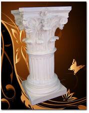 Engel Säule Dekosäule Römische Deko Barock Ablage Tisch Blumensäule Garten weiß