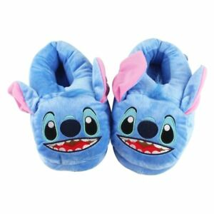 Cartoon Slippers Lilo and Stitch Plush Toy Disney Monster Fur Novelty Bedroom