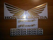 KIT 10 ADESIVI PRESPAZIATI HONDA HORNET ORO A SPECCHIO MOTO TUNING STICKERS