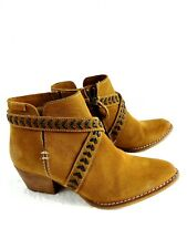 Women's Suede Leather Ankle Boots Size 6.5 US 37 EU