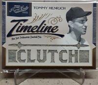 2011 Panini Prime Cuts TOMMY HENRICH Timeline CLUTCH Jersey 17/25