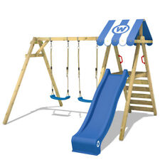 Swing frame with slide and roof Wickey Smart Ace wooden doubleswing