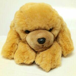 "Russ DOOZER Puppy Dog 16"" Tan Golden Retriever Laying Plush Vtg"