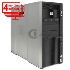 HP Z800 Workstation /Computer Trading PC 4 Monitors X5560 2.8Ghz 8GB 500GB Win10