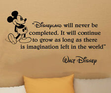 Disney Mickey Mouse Disneyland will never vinyl wall art decal sticker quote 30i