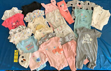 Lot Of 22 Baby Girl 0-3 Months Clothes Bodysuits Pants Sweaters