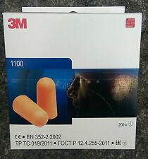 3m 1100 Bouchons D'oreilles in Dispenserbox 200 Paire 37 DB