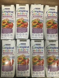 8 Compleat Pediatric Reduced Calorie Tube Feeding Formula Unflavored