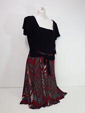 Perceptions New York Women's Dresses Short Sleeves Waist Belt Casual