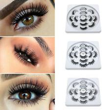 4546e900668 New 3D Mink Natural False Eyelashes Handmade 7Pairs Thick Fake Eye Lashes  Makeup