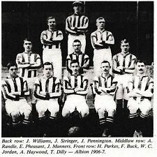 WEST BROMWICH ALBION FOOTBALL TEAM PHOTO 1906-07 SEASON