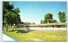1962 Rosier's Motel Tackle Shop Benzonia Michigan MI Vintage Postcard B19