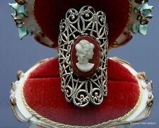 Vintage faux Gemmen Ring,Kunstgemme aus Plastik,breiter, langer Ring verstellbar